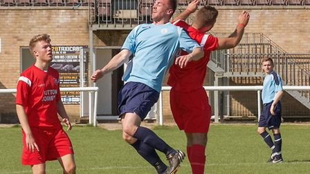 Action from Ely City Reserves v Girton. Picture: BARRY GIDDINGS.