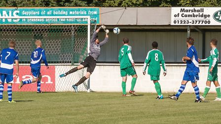 Action from Soham Town Reserves v Milton. Picture: BARRY GIDDINGS.