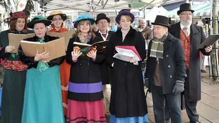 WMadaos in character at Wisbech Christmas Market.