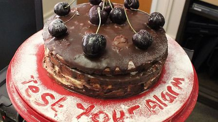 The Black Forest Gateau. Picture: CAMBS FIRE.