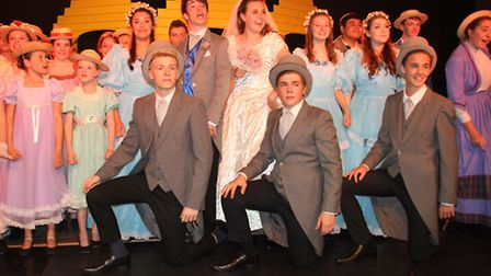 The cast of Viva production Half a Sixpence.
