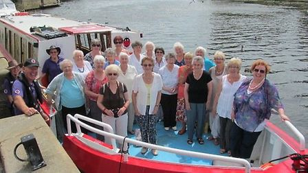 March Mutual Interests Group members embark on a cruise.