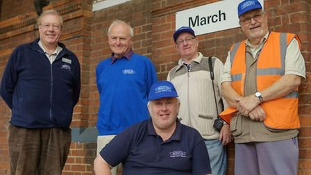March railway station celebrates its 130th birthday. The Bramley Line group.