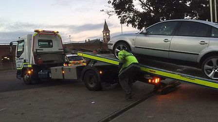 A car was seized in Wisbech. Picture: FENCOPS.