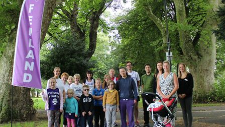 Members of Fenland Running Club at the official launch of Wisbech Park route