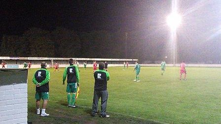 The bench watches on during Soham Town Rangers' Reserves 4-2 win over Ely City Reserves. Picture: SO