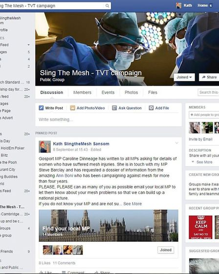 Sling The Mesh Facebook campaign