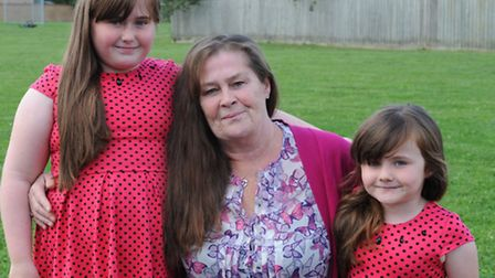 Ebonie Beecham 9yrs old and grandmother Wendy Ransome and Rowan Beecham 5yrs old from March