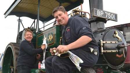 Haddenham Steam Rally, (l-r) Jonathan Vickery, and Ian Vickery, from St Albans, with their Aveling a