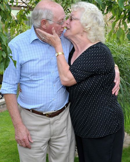 Maria and Nielsen-Bom, Garden open day, where Les and Val Powell met.