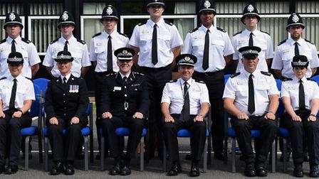 Passing out parade for nine new Cambridgeshire Police officers