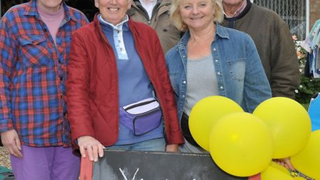 Yard sale at Christchurch. Second Left: Sandra Kay and friends .Picture: Steve Williams.