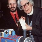 Rev Awdry with Ringo Starr who narrated a series of Thomas the Tank Engine