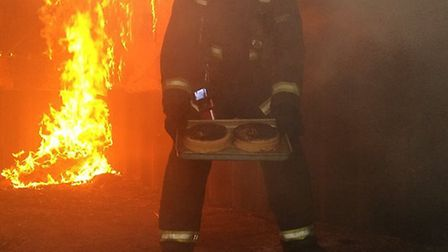 Extreme cake baking. Picture: CAMBS FIRE.