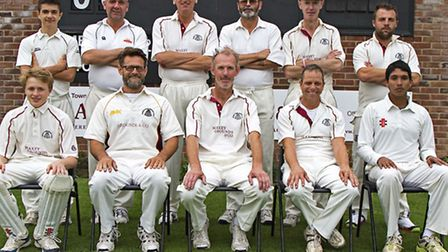 March 2nd XI: Back row (from l to r): Ben Watson, Adrian Bussey, Stuart Arnold, Stuart Fox, Stephen