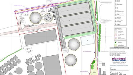 Plans for anaerobic digester at Fengrain