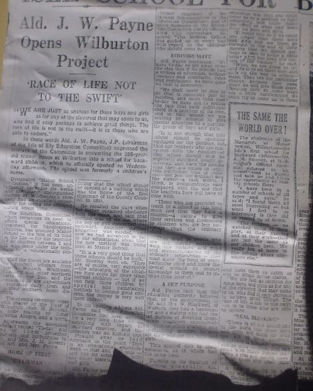A copy of the article that appeared in the Cambs Times in 1955