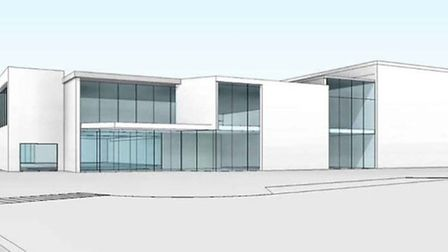 How the proposed leisure centre at Ely could look.