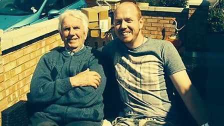 Simon Allen's trek across the Grand Canyon in the USA is inspired by his grandfather (left) who suff