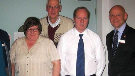 Mel Sutterby, Charles Paxton, of March Society and Adrian Sutterby and Alan Neville.