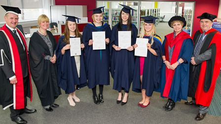 College of West Anglia vetinary nurses at the declaration