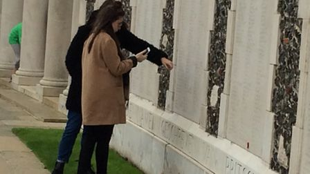 Deahna Gillett and Lily Bottomley on the Battlefields trip