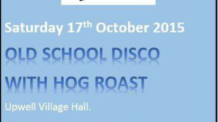 Pure Vinyl disco to come to Upwell Village Hall next weekend