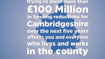 One of the images being used by Cambridgeshire County Council as part of their 'cuts consultation'