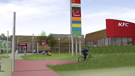 Impression of how Ely leisure complex will look