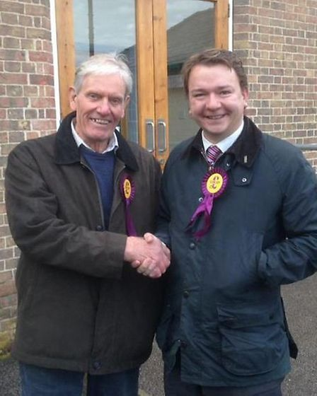 Tim Aker MEP met Richard Mandley during the Chatteris by-election