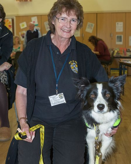 Christine Jones with Meg from PAT (Pets As Therapy)