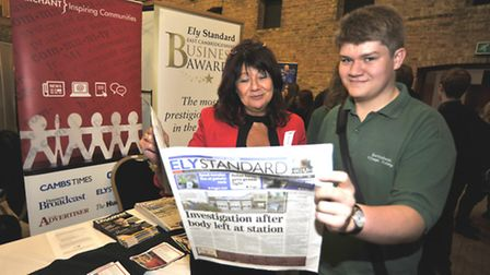 Ely Schools Careers Fair, at The Maltings, (l-r) Archant Brand Engagement Executive Gay Wiffen, with