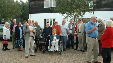 Ely Rotary Club outside St Georges Distillery