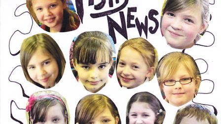 One of the early front covers of Fishy News at Gorefield school