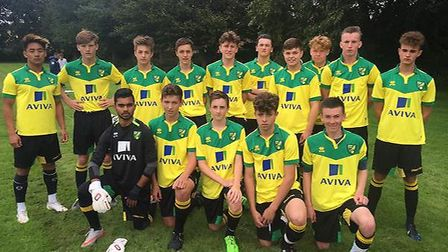 Ely College and Norwich City's Further Education Football and Shadow Scholarship squad