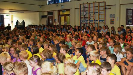 Park Lane pupils wear their colours to raise funds for a pre-school in Africa.
