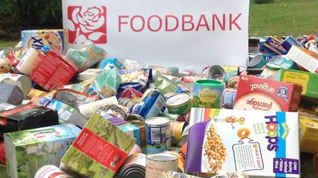 A recent collection for Ely Food Bank on Waterbeach village green.