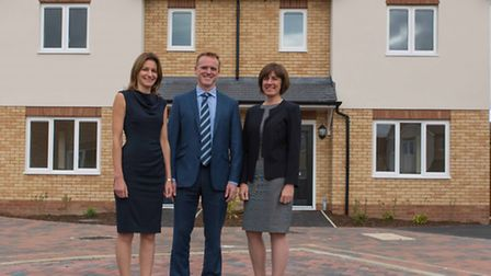Sanctuary Housing - Lucy Frazer MP visits the recently completed rural development in Haddenham.