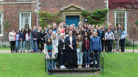 Over 40 Erasmus students come to King's Ely as part of online learning project