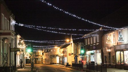 Last year's Christmas lights in Dunmow