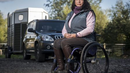 Para show jumper Susi Rogers-Hartley from Wiggenhall St Mary, had problems with a Shell garage near