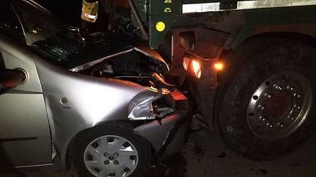 Collision on Byall Fen Drove in Manea