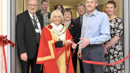 Highfield School, Ely. New Wing Grand Opening. Ribbon cutting of New Wing. Picture: Steve Williams.
