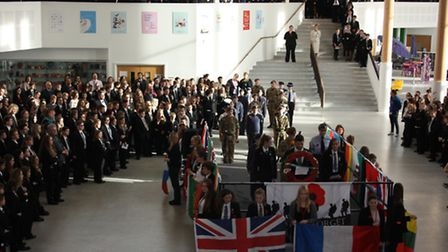 The remarkable moment a school - Thomas Clarkson Academy- paused for an act of remembrance