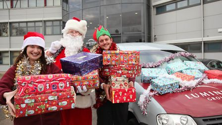 Luminus and Luminus Ferry Project employees have embraced the 2015 Samaritans Purse Shoebox Appeal a