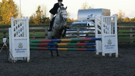 Thea Holdaway on Celtic Moy Ocean at the Show Jumping County Qualifier, held at the College of West