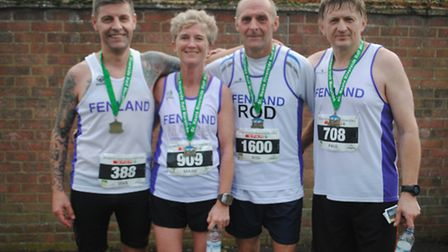 Sean Connolly, Maire Irlam, Rod Sinnott and Paul Griffin of Fenland Running Club.