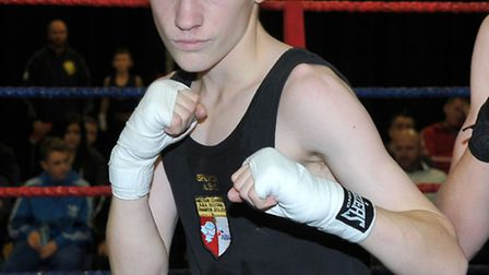 Sparta ABC's Reece Oldfield boxed to victory over London and Home Counties champion Aaron Lawrence,