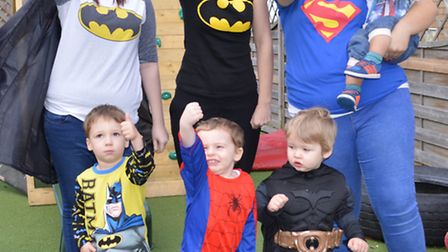 Be A Hero day, back row; Lee-Ann Watson (deputy manager), Kim Campbell (practitioner), Lucy Howard (