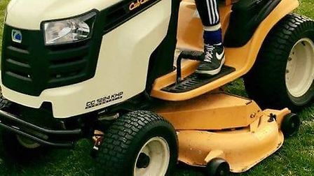 This is the lawnmower that was stolen.
